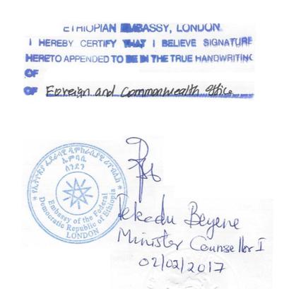 Ethiopia Attestation Service for UK documents
