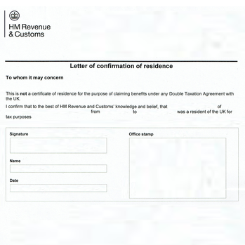 Proof of residence hague apostille service hmrc confirmation of residence spiritdancerdesigns Images