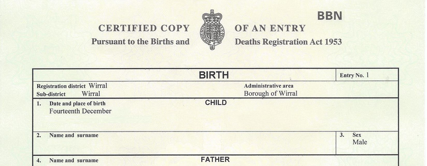replacement birth certificate service
