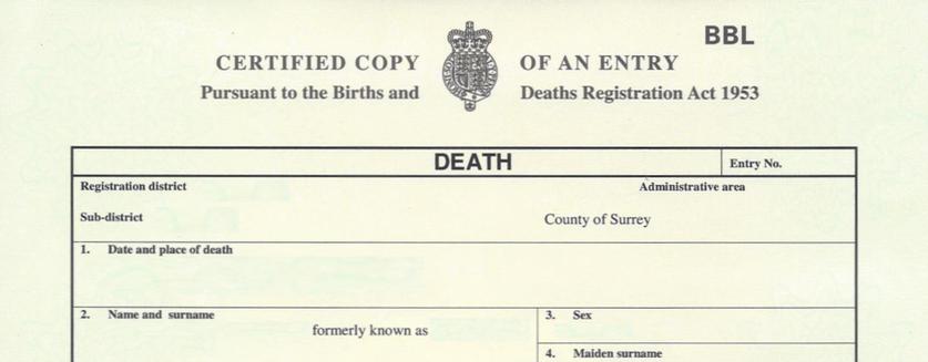 Apostille for Death Certificate - Hague Apostille Service