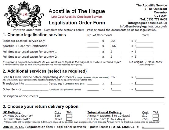 Superb OPTION 2   Order The Apostille Service Online